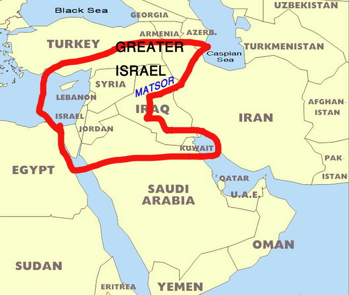 Land Of Israel - Map of egypt israel jordan