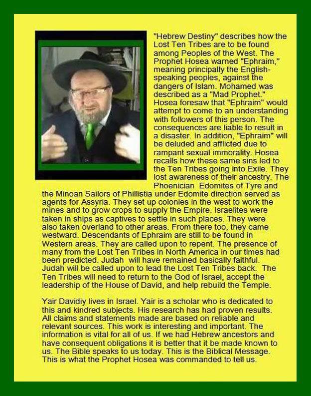 Hebrew Destiny