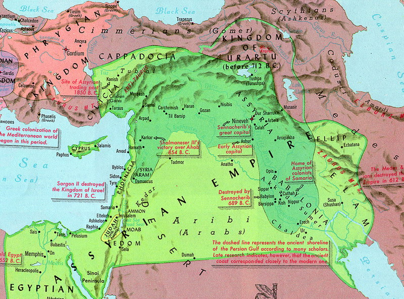 Assirian domination of israel evidence
