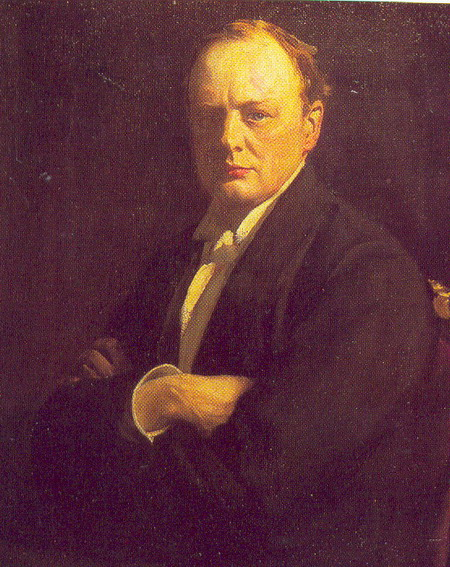 Portrait of Churchill